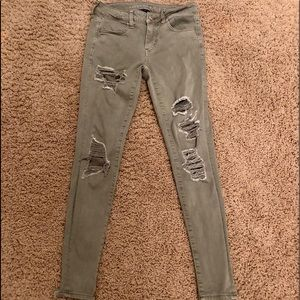 size 4 american eagle green jeans